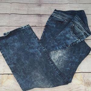 Vintage Acid Wash High Waist Skinny Jeans